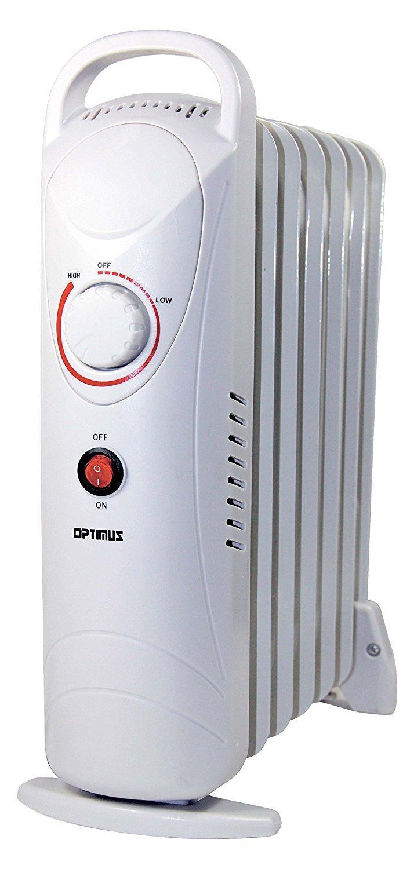 29bfd1f87ec7 Optimus H-6003 Portable Oil Filled Radiator Heater, Mini, 16 x 6 x 15 inches