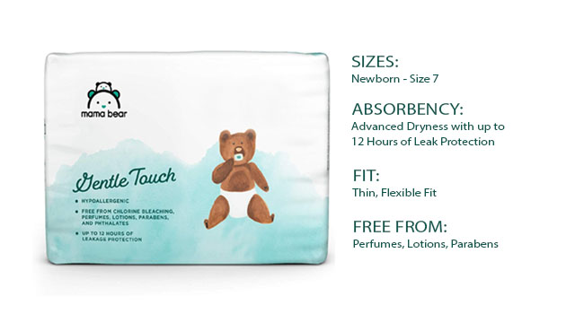 mama bear gentle touch diapers compare chart to plush protection diapers sizes absorbency fit
