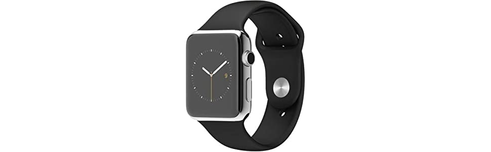 Apple Watch 42 mm (1ª Generación) - Smartwatch iOS con caja de acero inoxidable en plata (pantalla 1.5