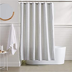 Amazon AmazonBasics Herringbone Shower Curtain Home Kitchen