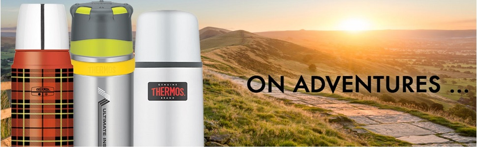 Thermos Direct Drink Flask, Charcoal