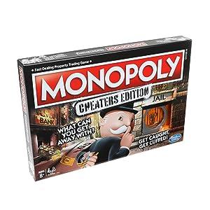 Hasbro Gaming monopolio de Juego: Cheaters Edition para niños de 8 ...