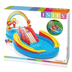 Intex 57453NP - Centro juegos hinchable arcoiris 297 x 193 x 135 ...