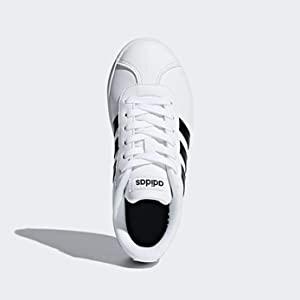 adidas VL COURT 2.0 K Kids SHOES FTWR WHITE/CORE BLACK/FTWR WHITE 33 1/2 EU
