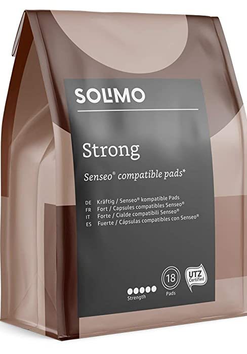 Marca Amazon- Solimo Cápsulas Strong, compatibles con Senseo ...
