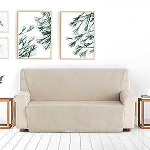 Blindecor Lino - Estor Enrollable translúcido Liso, 120 x 200 cm, Color Lino, tela