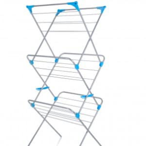 Minky 3 Tier Indoor Airer with Drying Space, Metal, Silver, 15 m