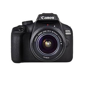 Canon Kit EOS 4000D CÁMARA Reflex 18MP Full HD DIGIC4+ WiFi + ...
