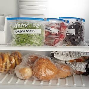 Hefty Freezer Slider Bags