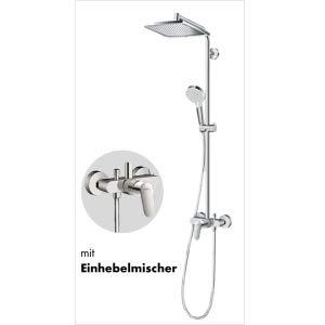 Hansgrohe Colonne de Douche Showerpipe Crometta E 240 Mitigeur Thermostatique Baignoire Chrome 27298000