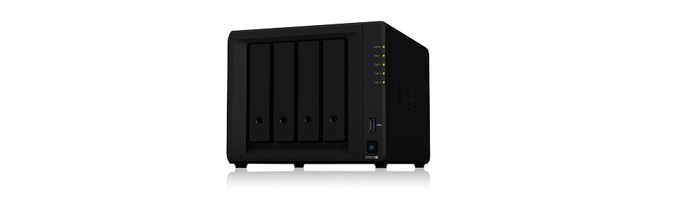 Synology DiskStation DS918+ [クアッドコアCeleron J3455 1.5GHz CPU搭載] 4ベイNASキット CS7062
