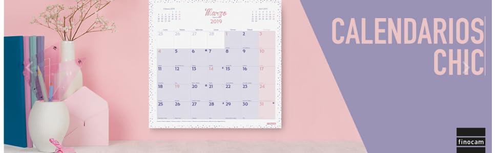 Finocam 781520019 - Calendario de pared 2019