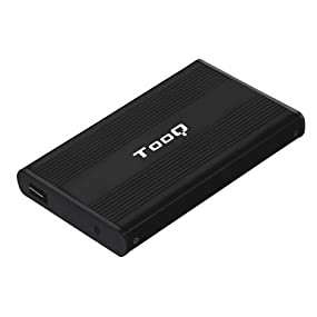 TooQ TQE-2510B - Caja en Aluminio para Disco Duro SATA de 2.5 Pulgadas, Color Negro: Amazon.es: Informática