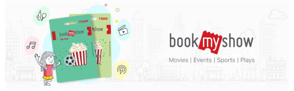 Bookmyshow Amazon gift card offer