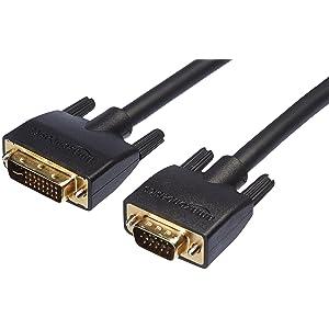 Amazonbasics Dvi I 24 5 To Vga Cable 3 05 M Black Elektronik