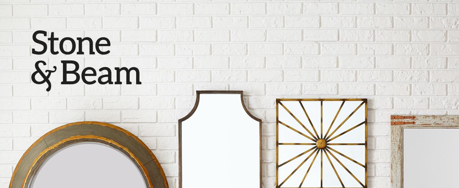 Stone and Beam, home furnishings, farmhouse, modern farmhouse, décor, quality, mirror, decorative