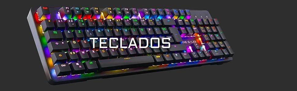 The G-Lab Combo Zinc Pack de Teclado Gaming USB y Ratón Multicolor Retroiluminación – Teclado Gaming QWERTY - Incluye Anti-Ghosting + Ratón Gaming 6 ...