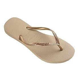 Havaianas Flip Flops Femme Mince, Gris (gris / Argent 0982), 41/42 Eu (39/40 Taille Du Brésil)