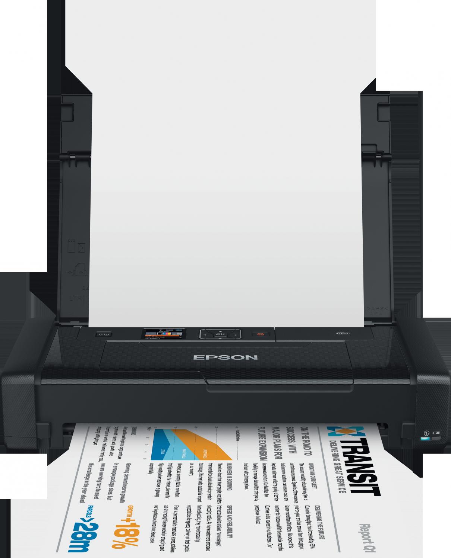 epson workforce wf 100w impresora a4 port til wifi y wifi direct usb color negro epson. Black Bedroom Furniture Sets. Home Design Ideas