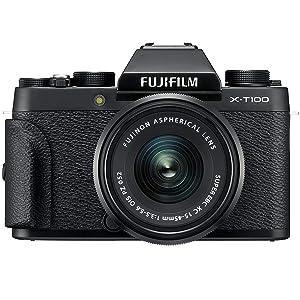 Fujifilm X-T100 - Cámara digital, objetivo XC15-45 mm, 24,2 ...