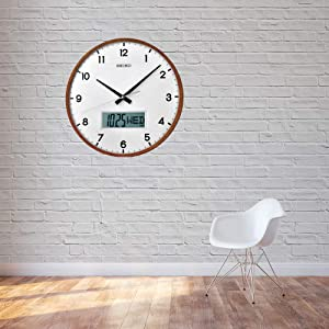 Buy Seiko Wall Clock 33 Cm X 33 Cm X 6 Cm Brown