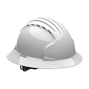 JSP 280-EV6161MCR2-LY Evolution Deluxe 6161 Full Brim Mining Hard Hat with CR2 Reflective Kit