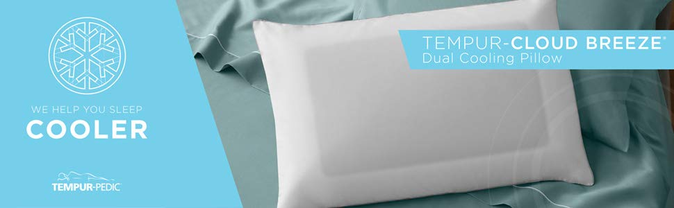 Tempur Pedic Tempur Cloud Breeze Dual Queen Size Pillow Soft