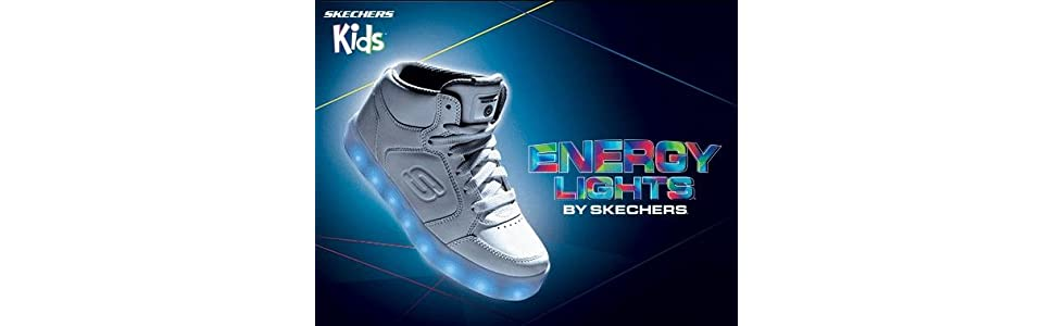 Details about Skechers s lights: energy lights bright led flashing shoes show original title
