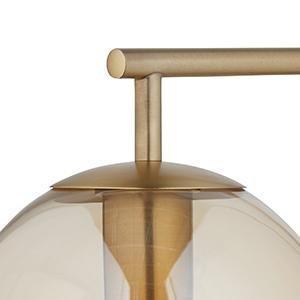 Amazon.com: Rivet Hudson Mid-Century Lámpara de pie de latón ...