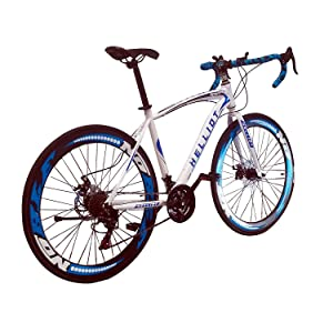 Helliot Bikes Helliot Sport 02 Bicicleta de Carretera, Unisex Adulto, Blanco/Azul, M-L: Amazon.es: Deportes y aire libre