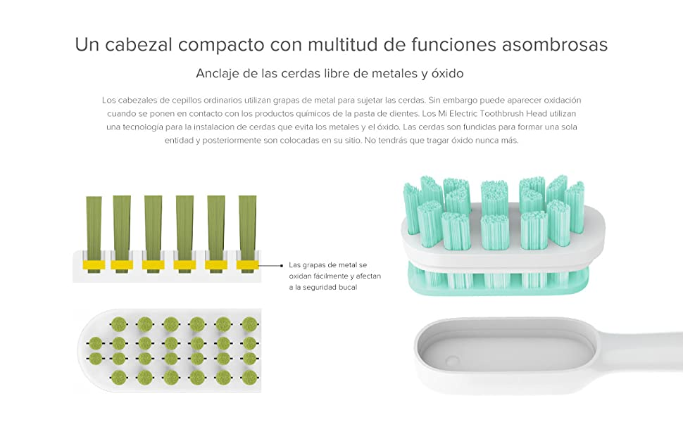 Recambio para Xiaomi - Cabeza Electrica de Cepillo de Dientes