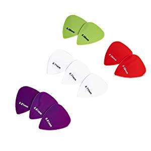 AmazonBasics - Púas de guitarra de colores lisos, de nailon, 10 ...