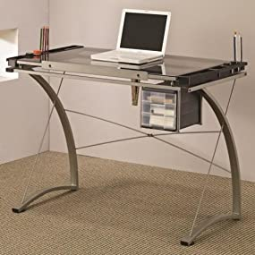 coaster contemporary computer workstation office desk table. coaster furniture drafting table with side shelf contemporary computer workstation office desk d