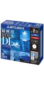 三菱ケミカルメディア Verbatim 1回録画用 DVD-R DL VHR21HDSP10