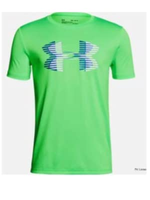Boys Youth Under Armour Top Shirt NEW Long Sleeve Arena Green Blue Black Size 7
