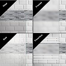 Shower Door Glass patterns