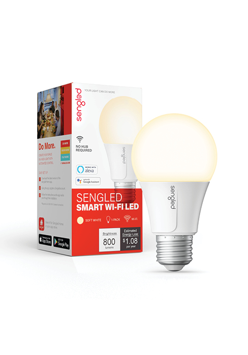 Smart Wi-Fi LED Soft White A19 Bulb
