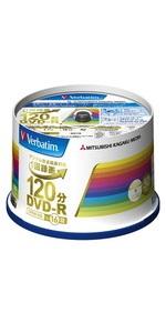 三菱ケミカルメディア Verbatim 1回録画用DVD-R(CPRM) VHR12JP50V4