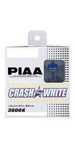 PIAA ( ピア ) ハロゲンバルブ 【クラッシュスターホワイト 3600K】 H11 12V55W 2個入り