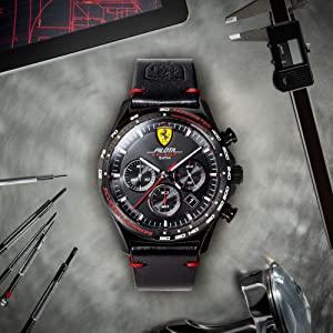 Scuderia Ferrari Casual Watch for Unisex, Silicone, 830515