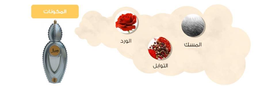 Ajmal Perfumes Wisal For Unisex, 50 ml