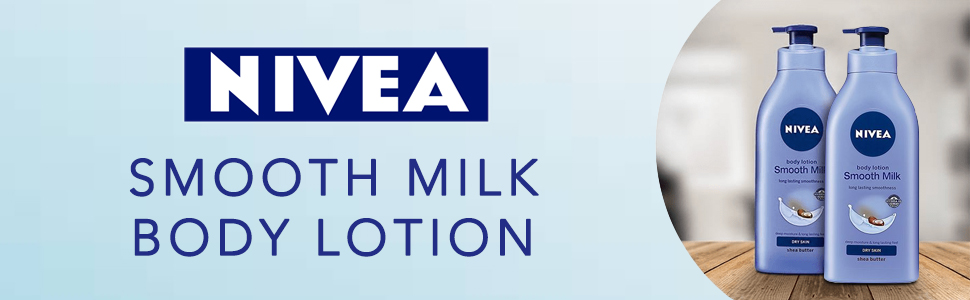 Nivea Smooth Milk Body Lotion for Dry Skin