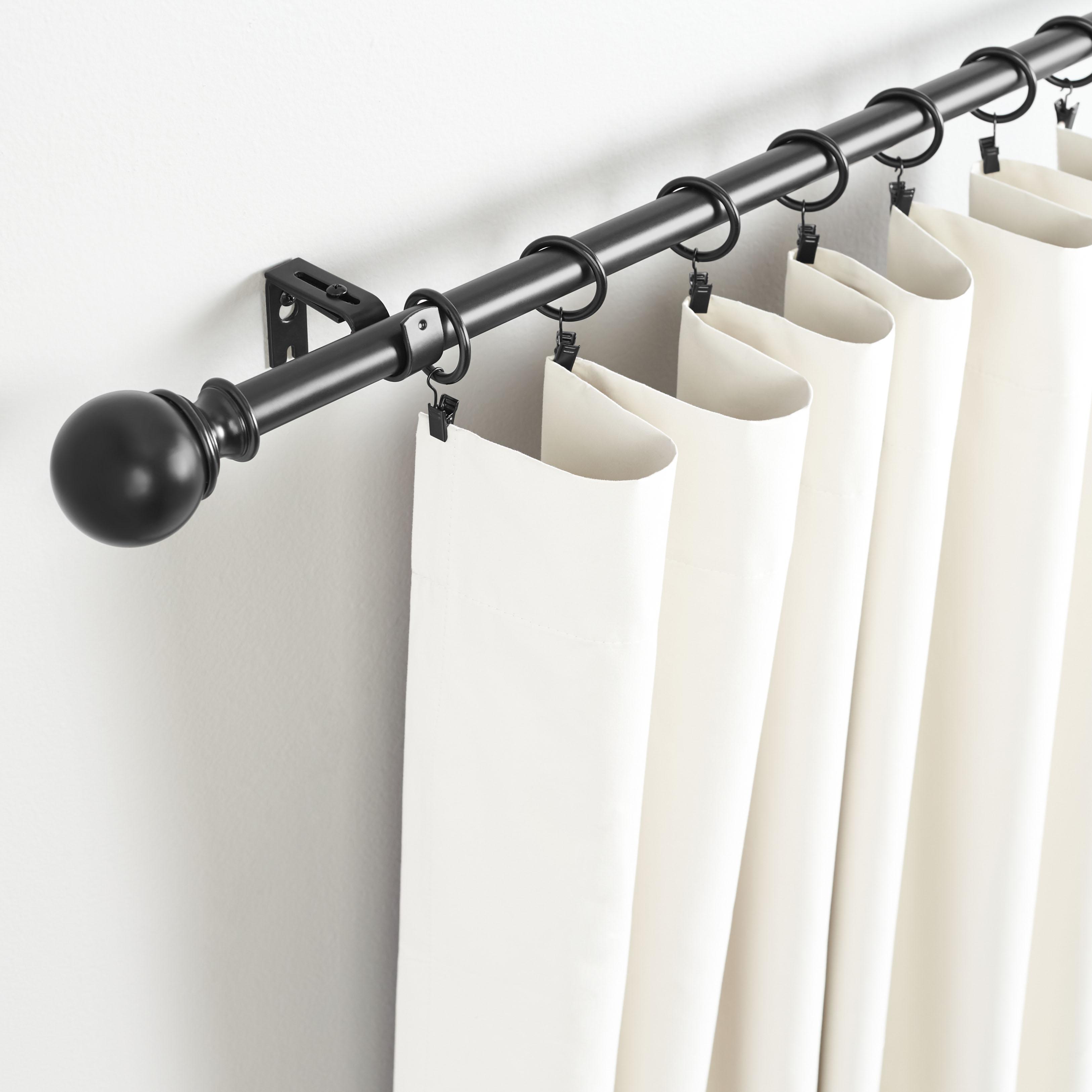 """Amazon.com: AmazonBasics 1"""" Curtain Rod With Round Finials"""