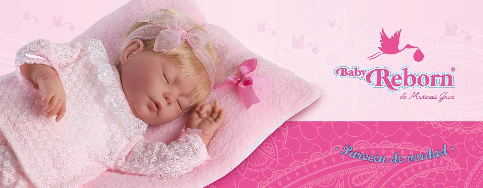 GUCA - Muñeca Baby Reborn Alma Traje beig Lana Perle c/ Pelo Especial 46 cm