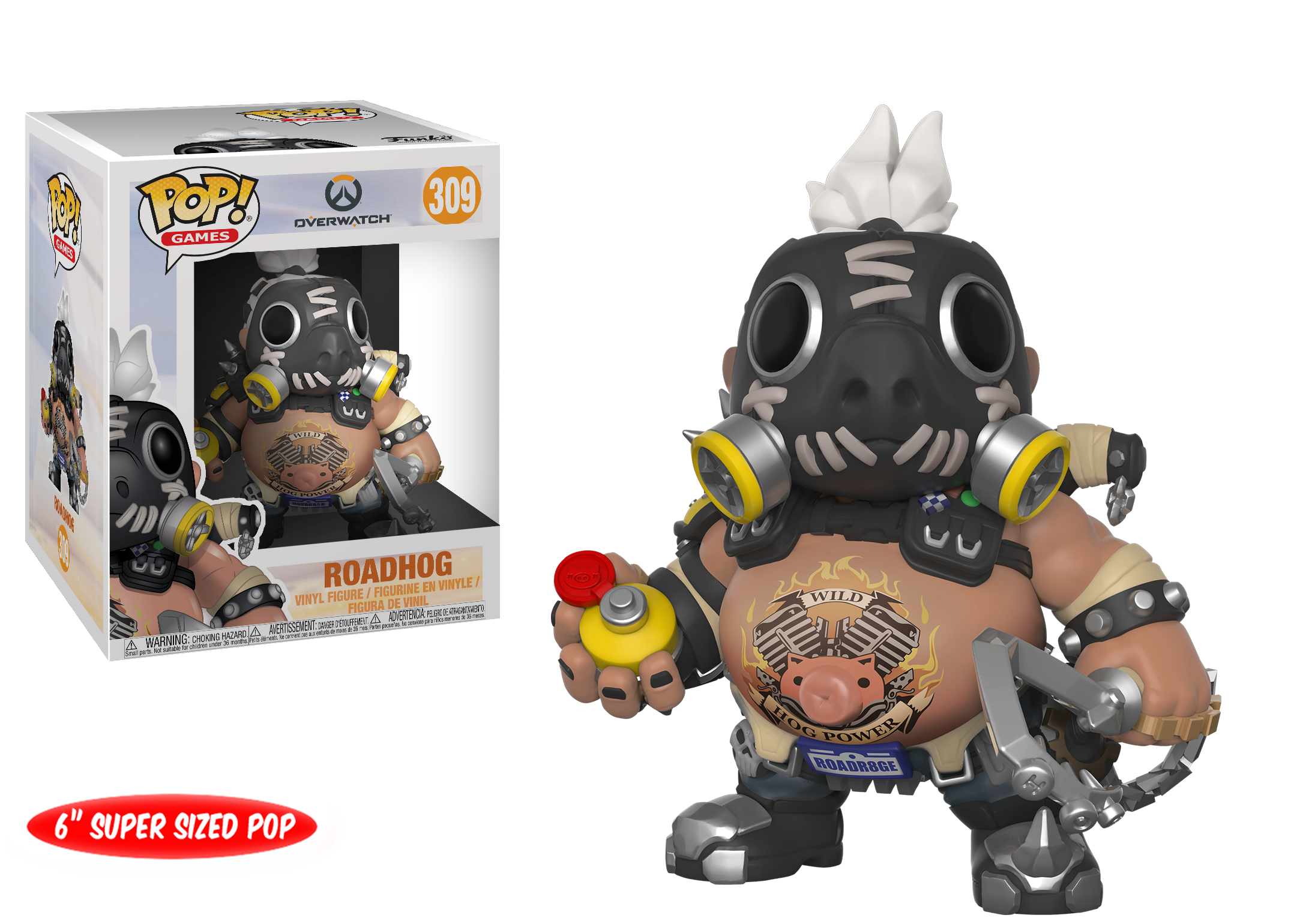 "6db82230fc2 Amazon.com  Funko Pop Games  Overwatch-6"" Road Hog 6"" Roadhog ..."