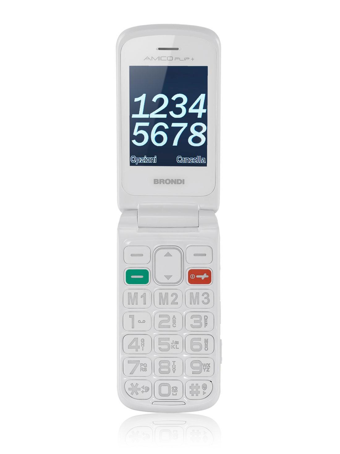Brondi amico flip telefono cellulare bianco for Numero per chiamare amazon