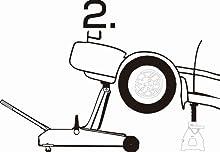 メルテック フロアージャッキ(2t) 軽自動車~普通車 油圧式 F-26