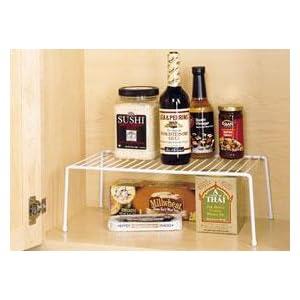 pantry shelf, shelf with storage under, two tier shelf,