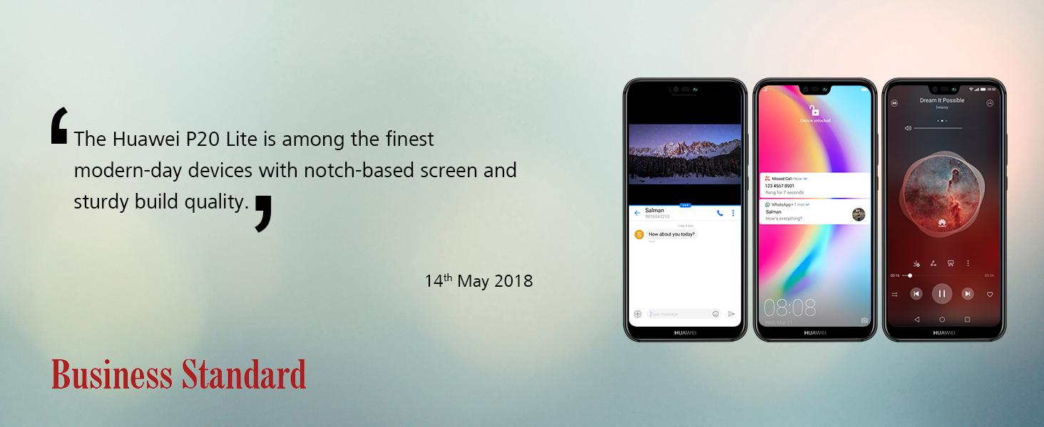 Huawei P20 Lite (Blue, 4GB RAM, 64GB Storage)