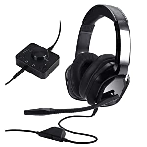 Xbox, PS4 Basics Premium Gaming Headset for PC and Consoles with Desktop Mixer Black
